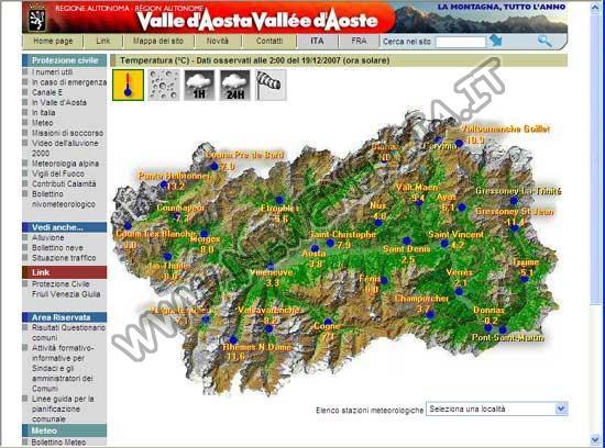 Meteo Val D'Aosta