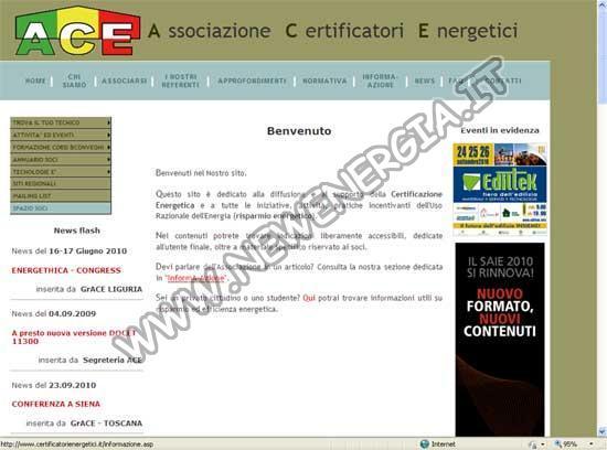 ACE – Associazione Certificatori Energetici
