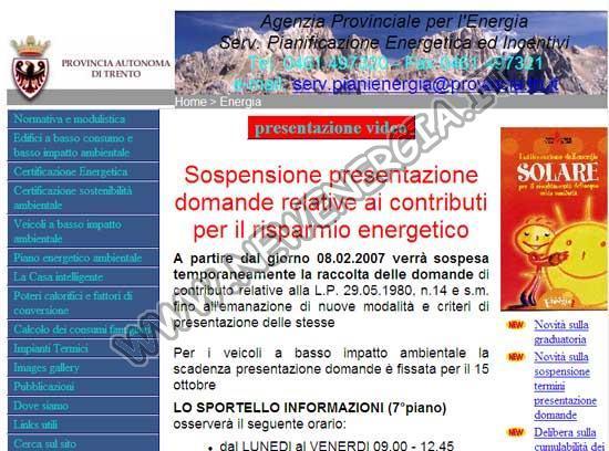 Energia Regione Trentino