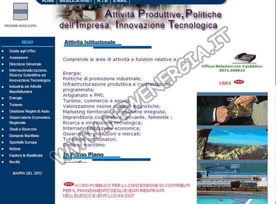 Energia Regione Basilicata