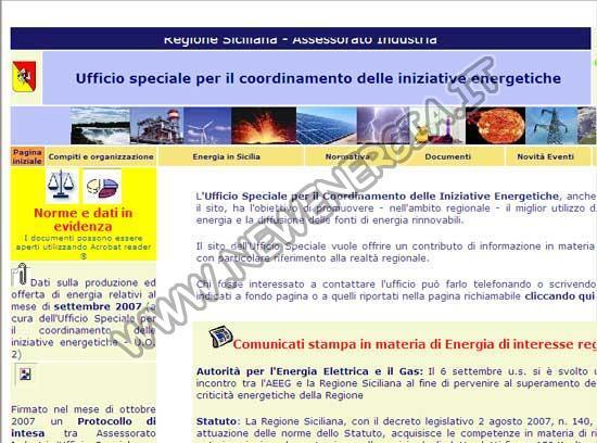 Energia Regione Sicilia